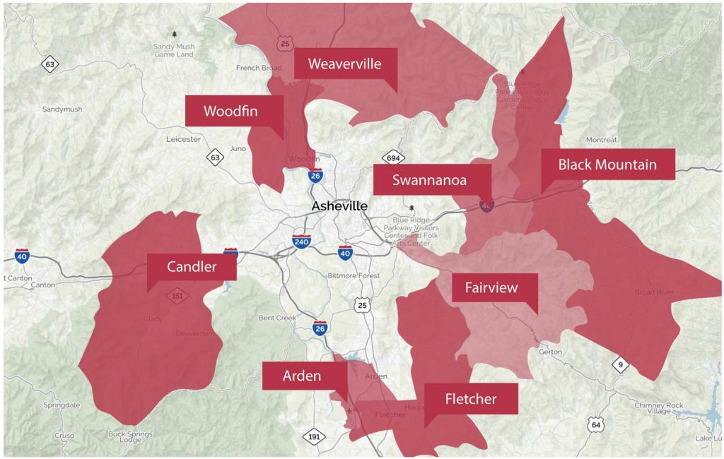 Asheville area homes for sale